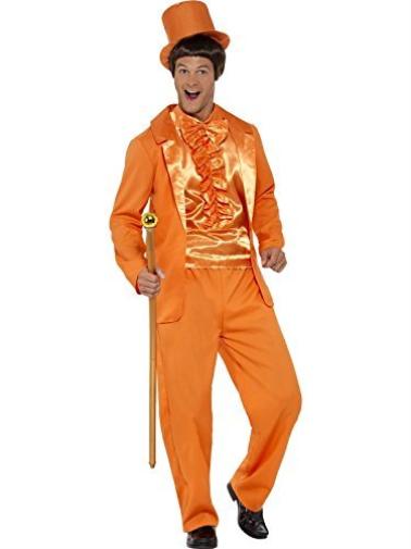 90s Stupidi Smoking Costume, Arancione, Con Giacca, Pantaloni, (usa Import) Nuovo Costo-m-mostra Il Titolo Originale