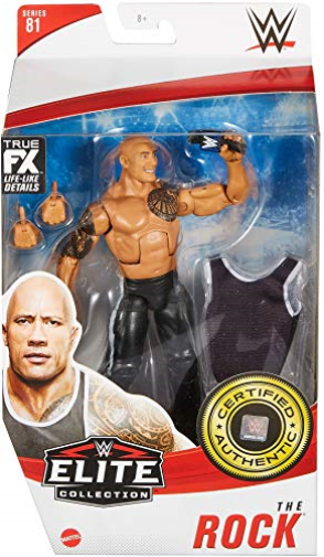 WWE ELITE FIGURE THE ROCK US IMPORT ACC NEW - $30.45